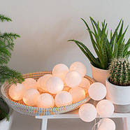 "Тайская гирлянда ""White"" (35 шариков) петля, фото 6"