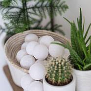 "Тайская гирлянда ""White"" (35 шариков) петля, фото 8"