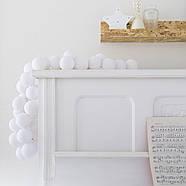 "Тайская гирлянда ""White"" (35 шариков) петля, фото 9"