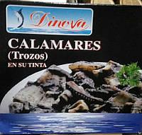 Кальмары Dinova Calamares En Su Tinta 266 гр