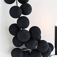 """Тайская гирлянда """"Black"""" (20 шариков) линия, фото 2"""