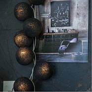 """Тайская гирлянда """"Black"""" (20 шариков) линия, фото 5"""
