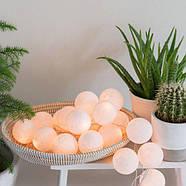 "Тайская LED-гирлянда ""White"" (10 шариков) на батарейках, фото 5"