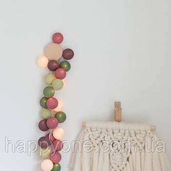 """Тайська LED-гірлянда """"Forest Fruit"""" (20 кульок) на батарейках"""