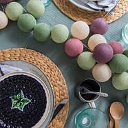 """Тайская гирлянда """"Forest Fruit"""" (20 шариков) петля, фото 6"""