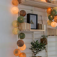 "Тайская LED-гирлянда ""Forest green"" (20 шариков) на батарейках, фото 7"