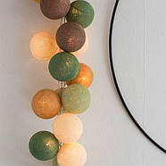 "Тайская LED-гирлянда ""Forest green"" (10 шариков) на батарейках, фото 2"