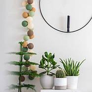 "Тайская LED-гирлянда ""Forest green"" (10 шариков) на батарейках, фото 5"