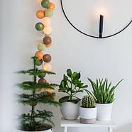 "Тайская LED-гирлянда ""Forest green"" (10 шариков) на батарейках, фото 6"