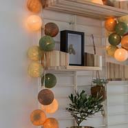"Тайская LED-гирлянда ""Forest green"" (10 шариков) на батарейках, фото 7"
