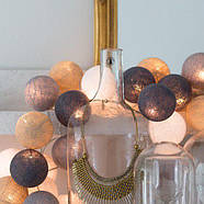 "Тайская LED-гирлянда ""Sand grey"" (20 шариков) на батарейках, фото 5"