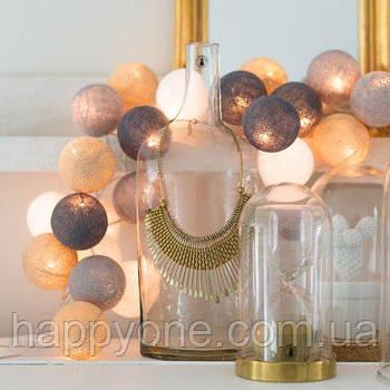 """Тайська LED-гірлянда """"Sand grey"""" (35 кульок)"""