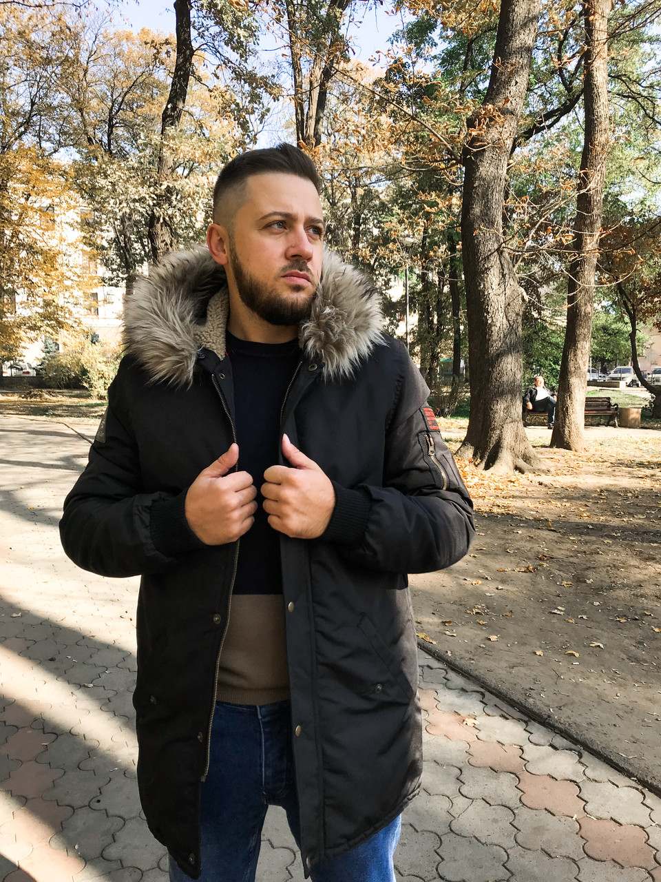 Куртка мужская черная - MILLIONAIRE оптом мужская одежда в Черновцах 3cb456c85fb94