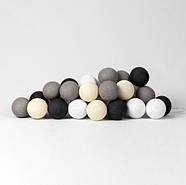 "Тайская LED-гирлянда ""Taupe"" (10 шариков) на батарейках, фото 3"