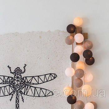 "Тайская LED-гирлянда ""Taupe"" (10 шариков) на батарейках"