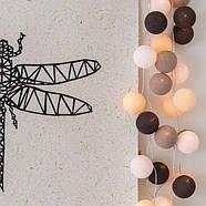 "Тайская LED-гирлянда ""Taupe"" (10 шариков) на батарейках, фото 4"