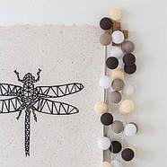 "Тайская LED-гирлянда ""Taupe"" (10 шариков) на батарейках, фото 5"