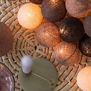 """Тайская гирлянда """"Brown"""" (20 шариков) линия, фото 2"""