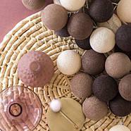 """Тайская гирлянда """"Brown"""" (20 шариков) линия, фото 5"""
