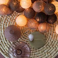 "Тайская LED-гирлянда ""Brown"" (20 шариков) на батарейках, фото 1"