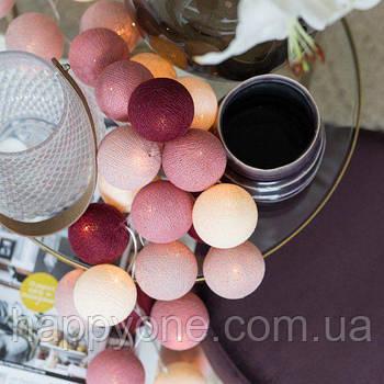 """Тайская LED-гирлянда """"Rosegarden"""" (10 шариков) на батарейках"""