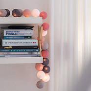 "Тайская LED-гирлянда ""Dirty Rose"" (20 шариков) на батарейках, фото 5"