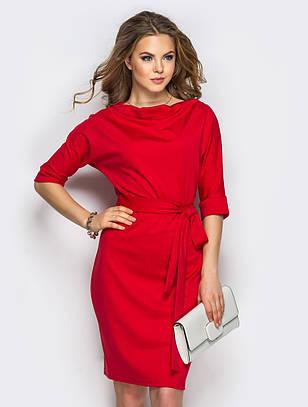 (S, M, L, XL) Класичне червоне плаття-міді Sofia