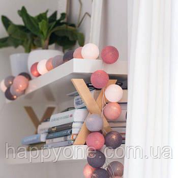 "Тайская LED-гирлянда ""Dirty Rose"" (35 шариков)"