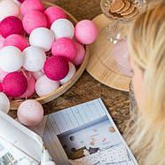 "Тайская LED-гирлянда ""Pink"" (20 шариков) на батарейках, фото 3"