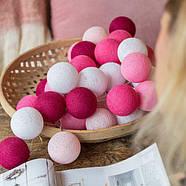 "Тайская LED-гирлянда ""Pink"" (20 шариков) на батарейках, фото 4"