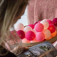 "Тайская LED-гирлянда ""Pink"" (20 шариков) на батарейках, фото 5"