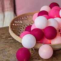"""Тайская гирлянда """"Pink"""" (20 шариков) петля, фото 1"""