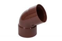 Колено двухраструбное пластиковой трубы Profil Д=100мм, 60 градусов, цвет коричневый