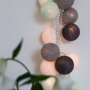 """Тайская LED-гирлянда """"Aqua-grey"""" (35 шариков), фото 5"""