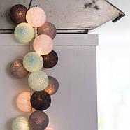 """Тайская LED-гирлянда """"Aqua-grey"""" (35 шариков), фото 2"""