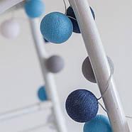"Тайская LED-гирлянда ""Sailor blue"" (20 шариков) на батарейках, фото 5"