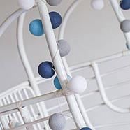 """Тайская гирлянда """"Sailor blue"""" (20 шариков) петля, фото 2"""