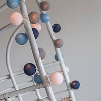 """Тайская гирлянда """"Sailor blue"""" (20 шариков) петля, фото 1"""
