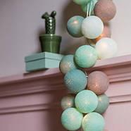 """Тайская LED-гирлянда """"Mint"""" (20 шариков) на батарейках, фото 2"""