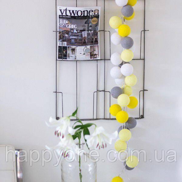 """Тайская гирлянда """"Yellow-Stone"""" (20 шариков) линия"""