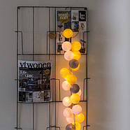 "Тайская LED-гирлянда ""Yellow-Stone"" (10 шариков) на батарейках, фото 4"