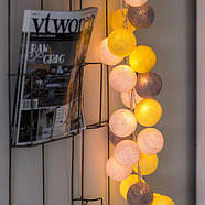 "Тайская LED-гирлянда ""Yellow-Stone"" (10 шариков) на батарейках, фото 5"