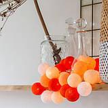 """Тайская LED-гирлянда """"Orange"""" (35 шариков), фото 2"""