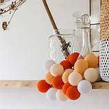 """Тайская LED-гирлянда """"Orange"""" (35 шариков), фото 4"""