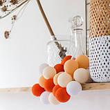 """Тайская LED-гирлянда """"Orange"""" (35 шариков), фото 5"""