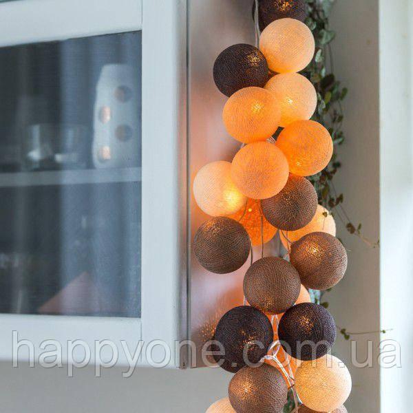 """Тайская гирлянда """"Clay"""" (20 шариков) петля"""