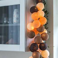 """Тайская гирлянда """"Clay"""" (20 шариков) петля, фото 1"""