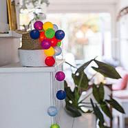 "Тайская LED-гирлянда ""Rainbow"" (20 шариков) на батарейках, фото 4"