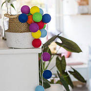 "Тайская LED-гирлянда ""Rainbow"" (10 шариков) на батарейках, фото 4"