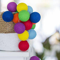 "Тайская LED-гирлянда ""Rainbow"" (10 шариков) на батарейках, фото 1"